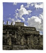 Temple Of The Warriors Fleece Blanket