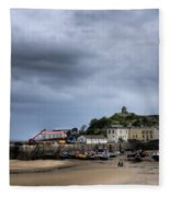 Tenby Harbour From North Beach 2 Fleece Blanket