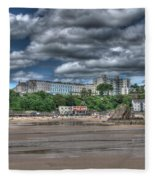 Tenby North Beach Fleece Blanket