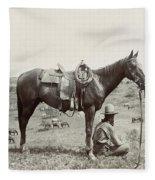 Texas: Cowboy, C1910 Fleece Blanket