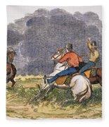 Texas Cowboys, C1850 Fleece Blanket
