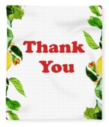 Thank You Card   Fleece Blanket