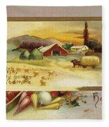 Thanksgiving Card, C1910 Fleece Blanket