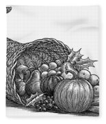 Thanksgiving: Cornucopia Fleece Blanket