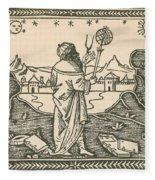 The Astrologer Albumasar Fleece Blanket