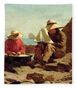 The Boat Builders Fleece Blanket