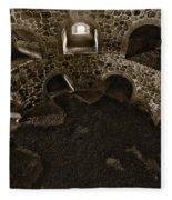 The Castle Of Tavastehus Bw Fleece Blanket
