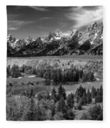 The Grand Tetons And The Snake River Fleece Blanket