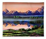 The Grand Tetons Fleece Blanket