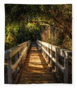 The Little White Bridge II  Fleece Blanket
