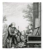 The Mozart Family On Tour, 1763 Fleece Blanket
