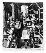 The Printing Of Books Fleece Blanket