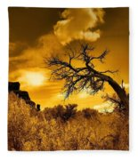 The Weight Of The Clouds In Sepia Fleece Blanket