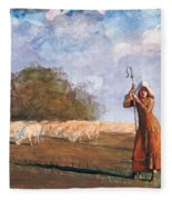 The Young Shepherdess Fleece Blanket