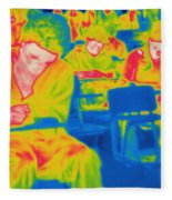 Thermogram Of Students In A Lecture Fleece Blanket