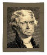 Thomas Jefferson In Sepia Fleece Blanket
