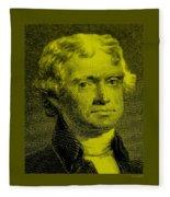 Thomas Jefferson In Yellow Fleece Blanket