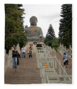 Tian Tan Buddha Fleece Blanket