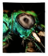 Tiger Beetle Fleece Blanket