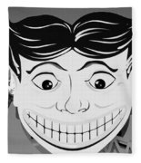 Tillie The Clown Of Coney Island In Black And White Fleece Blanket