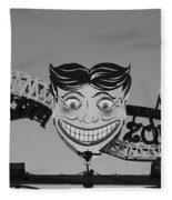 Tillie's Scream Zone In Black And White Fleece Blanket