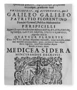 Title Page Of Galileos Book Fleece Blanket