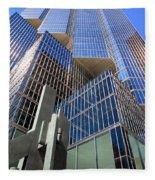 Toronto Financial Core Buildings Fleece Blanket
