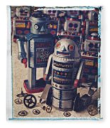 Toy Robots Fleece Blanket