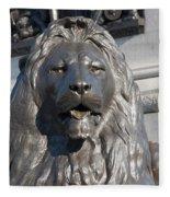Trafalgar Square Lion Fleece Blanket