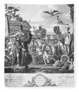 Treaty Of Ghent, 1814 Fleece Blanket