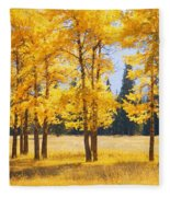 Trees In Autumn Fleece Blanket