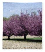 Trees On Warwick Fleece Blanket