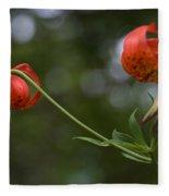 Turk's Cap Lily Fleece Blanket