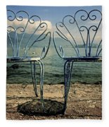 Two Chairs Fleece Blanket by Joana Kruse