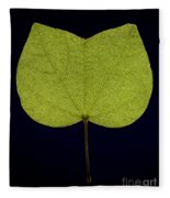 Two Lobed Leaf Fleece Blanket