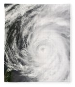 Typhoon Man-yi Fleece Blanket