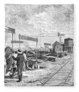 Underground Village, 1874 Fleece Blanket