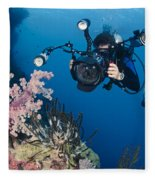 Underwater Photography Fleece Blanket
