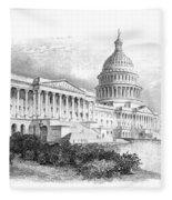 U.s. Capitol Fleece Blanket