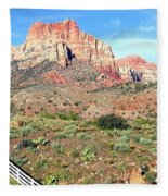 Utah Cactus Field Fleece Blanket