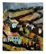 Village In Fall Fleece Blanket