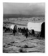 Wagon Train Fleece Blanket