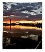 Wakamaw Valley Sunrise Fleece Blanket