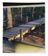 Walk Bridge Fleece Blanket