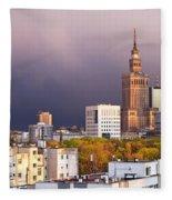 Warsaw Cityscape Fleece Blanket