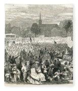 Washington: Abolition, 1866 Fleece Blanket