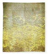 Water Pattern On Old Paper Fleece Blanket