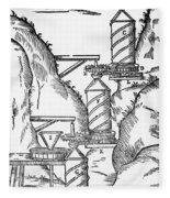 Watermill, Reversed Archimedean Screw Fleece Blanket
