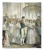 Wedding Of Queen Victoria Fleece Blanket