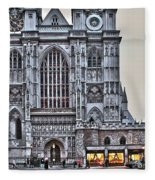 Westminster Abbey And  Victoria Tower Fleece Blanket